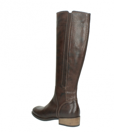 wolky long boots 04513 earl 30430 cognac snakeprint leather_4
