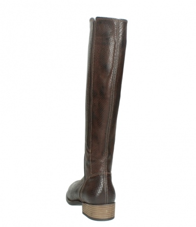 wolky long boots 04513 earl 30430 cognac snakeprint leather_6