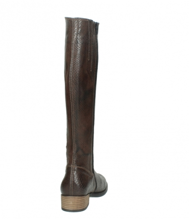 wolky long boots 04513 earl 30430 cognac snakeprint leather_8