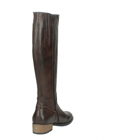wolky long boots 04513 earl 30430 cognac snakeprint leather_9