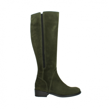 wolky high boots 04513 earl 40730 forest green suede