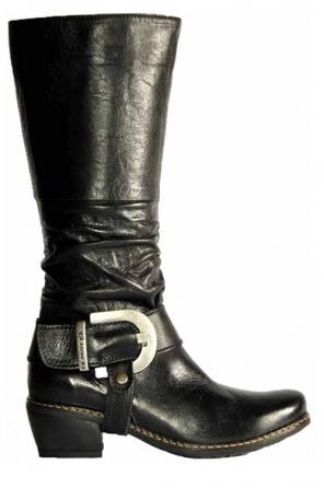 wolky lange laarzen 0456 la banda 300 zwart leer