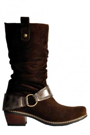 wolky hohe stiefel 0460 zapala 430 braun veloursleder