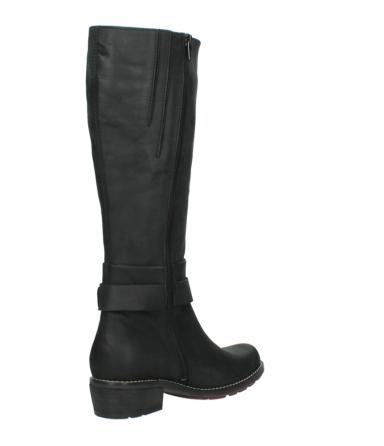 wolky lange laarzen 0527 aras 100 zwart nubuck_10