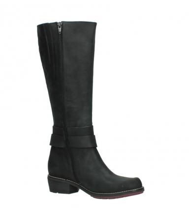 wolky lange laarzen 0527 aras 100 zwart nubuck_15