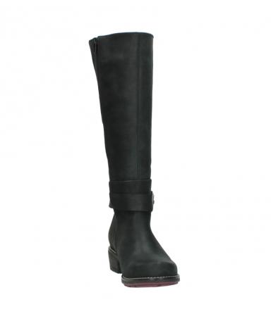 wolky lange laarzen 0527 aras 100 zwart nubuck_18