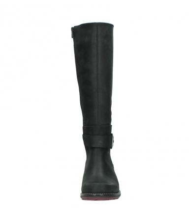 wolky lange laarzen 0527 aras 100 zwart nubuck_19