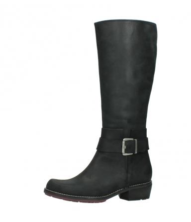 wolky lange laarzen 0527 aras 100 zwart nubuck_24