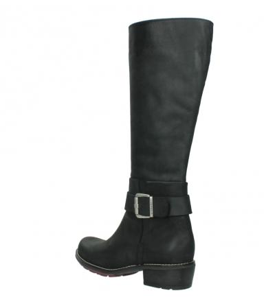 wolky lange laarzen 0527 aras 100 zwart nubuck_4