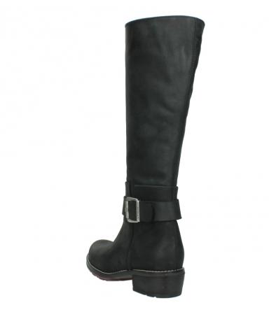 wolky lange laarzen 0527 aras 100 zwart nubuck_5