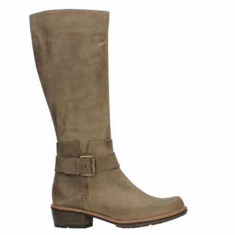 wolky hohe stiefel 0527 aras 115 taupe nubukleder