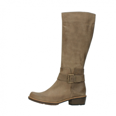 wolky hohe stiefel 0527 aras 115 taupe nubukleder_1