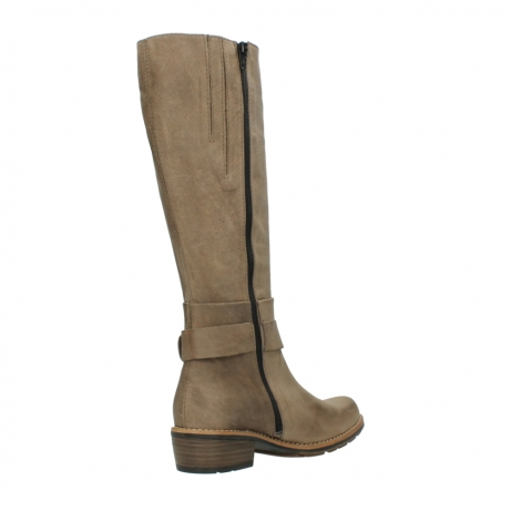 wolky hohe stiefel 0527 aras 115 taupe nubukleder_10