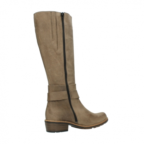 wolky hohe stiefel 0527 aras 115 taupe nubukleder_11