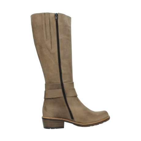 wolky hohe stiefel 0527 aras 115 taupe nubukleder_12