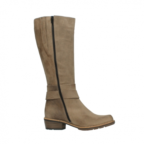 wolky hohe stiefel 0527 aras 115 taupe nubukleder_14