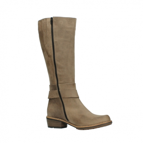 wolky hohe stiefel 0527 aras 115 taupe nubukleder_15