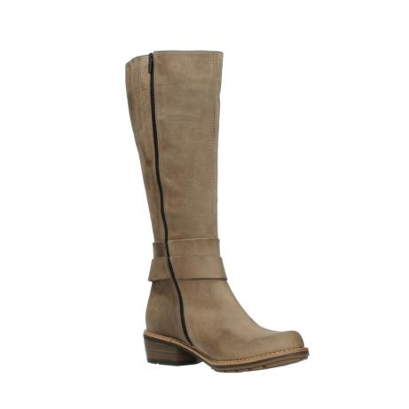 wolky hohe stiefel 0527 aras 115 taupe nubukleder_16
