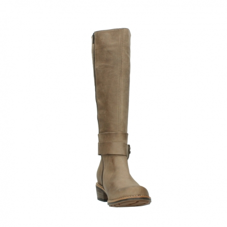 wolky hohe stiefel 0527 aras 115 taupe nubukleder_18