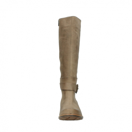wolky hohe stiefel 0527 aras 115 taupe nubukleder_19