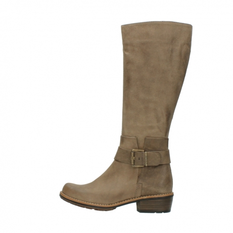wolky hohe stiefel 0527 aras 115 taupe nubukleder_2