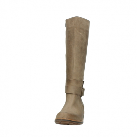 wolky hohe stiefel 0527 aras 115 taupe nubukleder_20