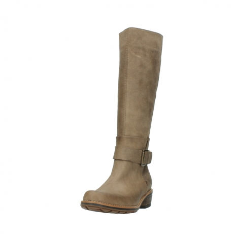 wolky hohe stiefel 0527 aras 115 taupe nubukleder_21