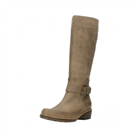 wolky hohe stiefel 0527 aras 115 taupe nubukleder_22