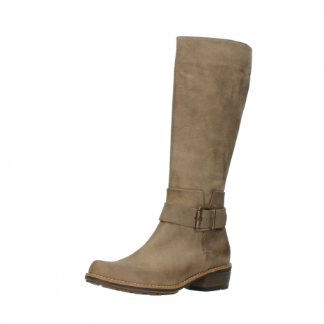 wolky hohe stiefel 0527 aras 115 taupe nubukleder_23