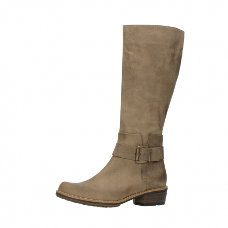 wolky hohe stiefel 0527 aras 115 taupe nubukleder_24