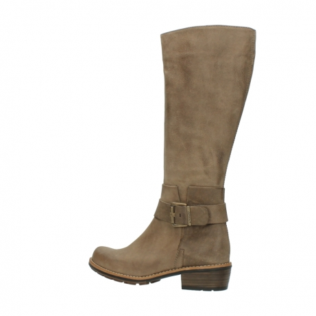 wolky hohe stiefel 0527 aras 115 taupe nubukleder_3