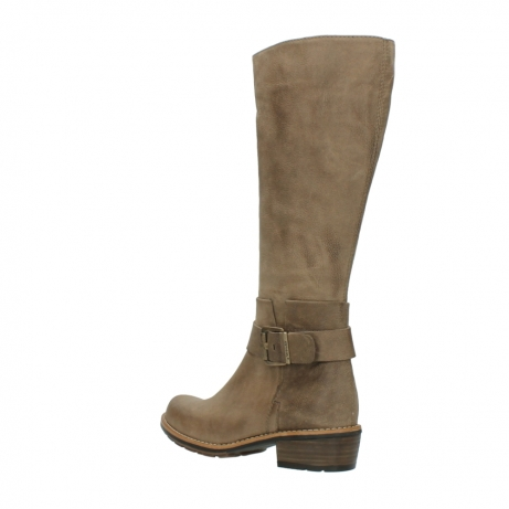 wolky hohe stiefel 0527 aras 115 taupe nubukleder_4