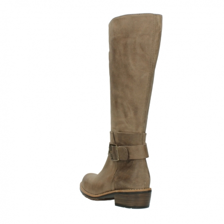 wolky hohe stiefel 0527 aras 115 taupe nubukleder_5