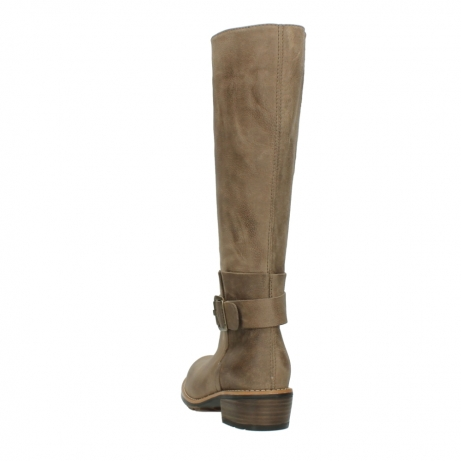wolky hohe stiefel 0527 aras 115 taupe nubukleder_6