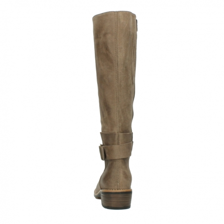 wolky hohe stiefel 0527 aras 115 taupe nubukleder_7