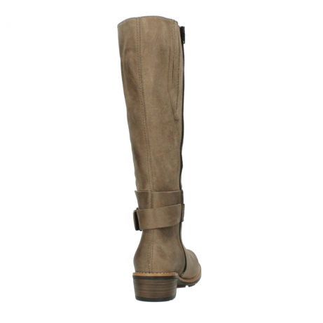 wolky hohe stiefel 0527 aras 115 taupe nubukleder_8