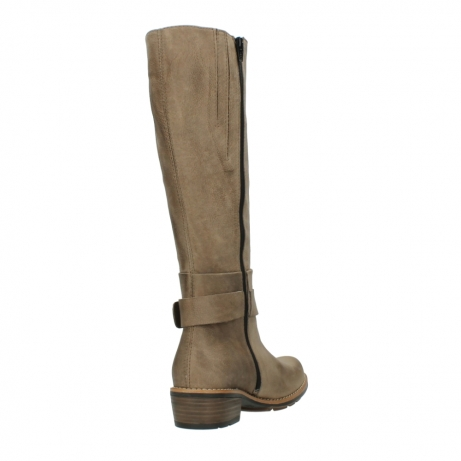 wolky hohe stiefel 0527 aras 115 taupe nubukleder_9