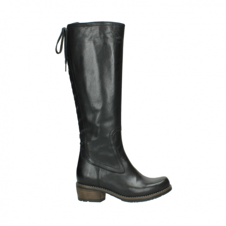 wolky lange laarzen 0552 pardo 300 zwart leer