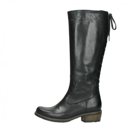 wolky lange laarzen 0552 pardo 300 zwart leer_1