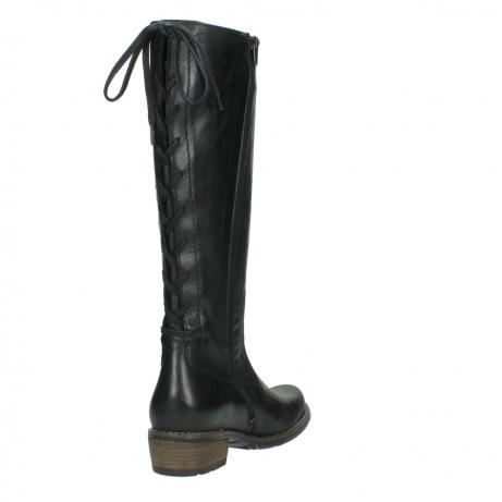 wolky lange laarzen 0552 pardo 300 zwart leer_9