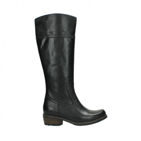 wolky lange laarzen 0553 tinto 300 zwart leer