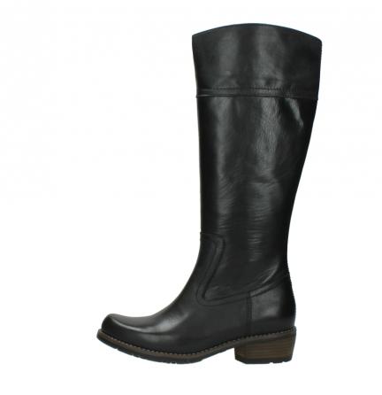 wolky lange laarzen 0553 tinto 300 zwart leer_1