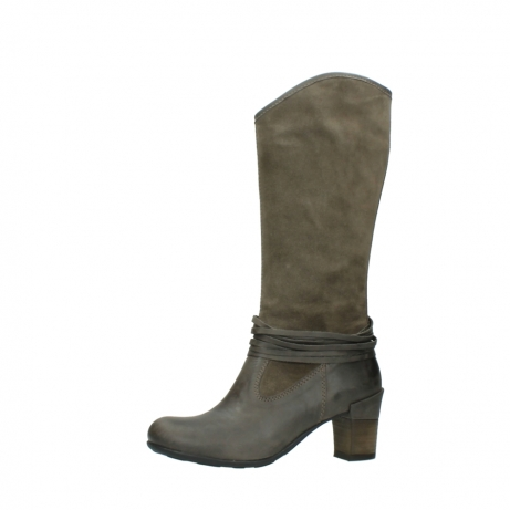 wolky long boots 07742 moss 40150 taupe suede_24