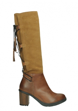 wolky high boots 08062 atasu 34430 cognac leather with suede_1
