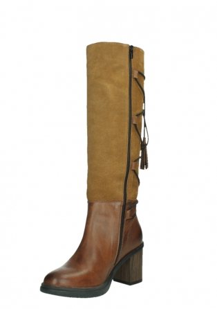 wolky high boots 08062 atasu 34430 cognac leather with suede_10