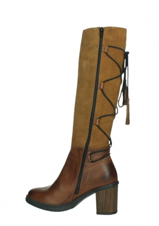 wolky high boots 08062 atasu 34430 cognac leather with suede_14