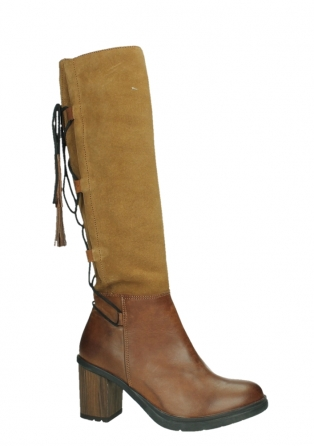 wolky high boots 08062 atasu 34430 cognac leather with suede_2