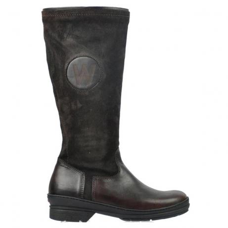 wolky lange laarzen 7629 tanera wp 530 bruin leer water proof vachtvoering