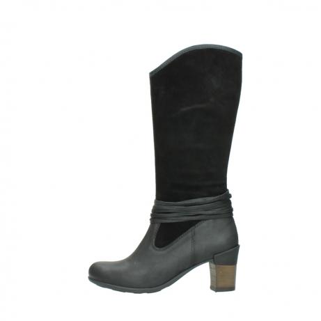 wolky lange laarzen 7742 moss 400 zwart suede_1