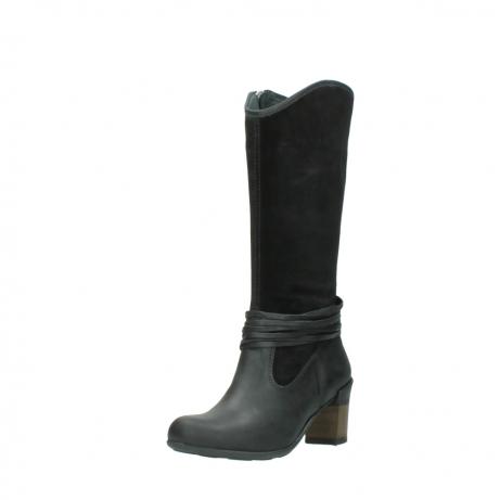 wolky lange laarzen 7742 moss 400 zwart suede_22